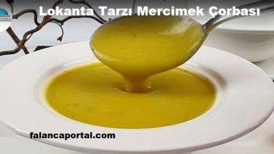 Lokanta Tarzı Mercimek Çorbası