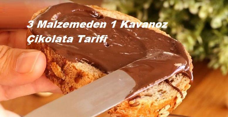 3 Malzemeden 1 Kavanoz Çikolata Tarifi 1