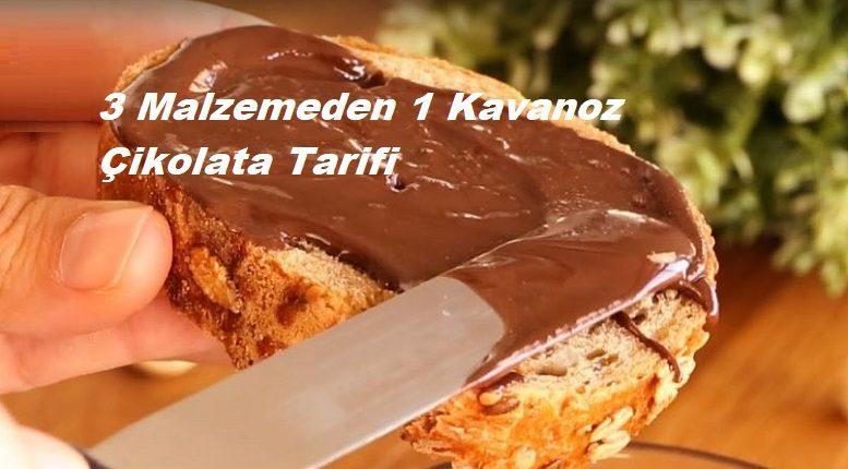 3 Malzemeden 1 Kavanoz Çikolata Tarifi