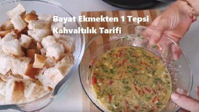 Bayat Ekmekten 1 Tepsi Kahvaltılık Tarifi