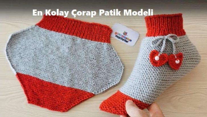 En Kolay Çorap Patik Modeli