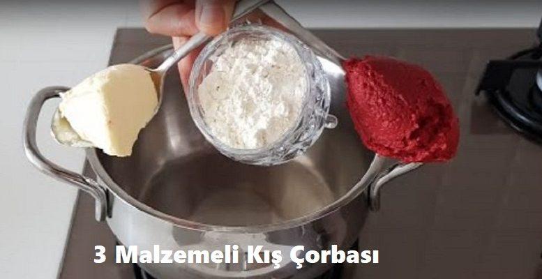 3 Malzemeli Kış Çorbası 1