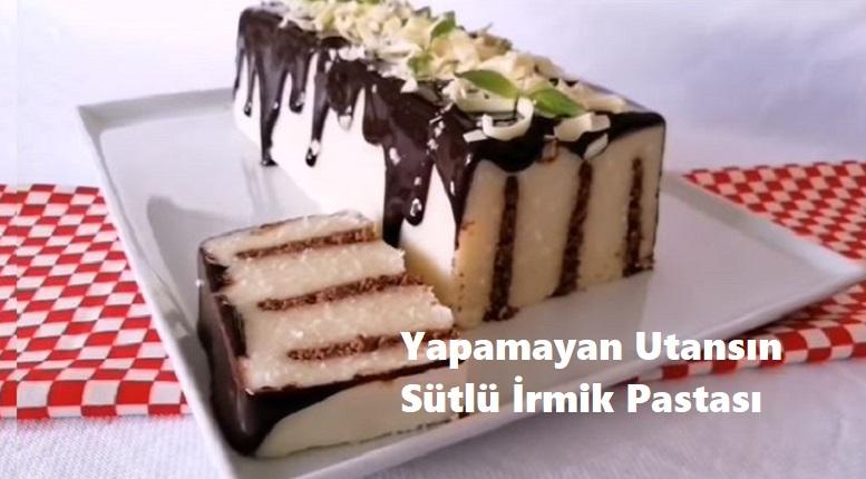 Yapamayan Üzülsün Sütlü İrmik Pastası