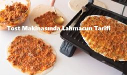 Tost Makinasında Lahmacun Tarifi 1