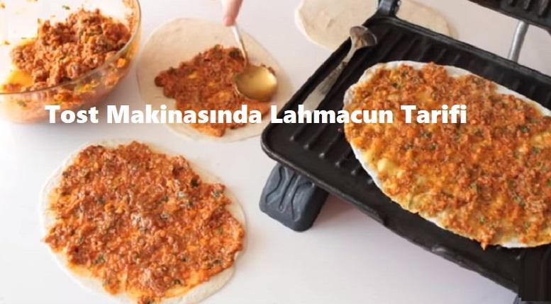 Tost Makinasında Lahmacun Tarifi
