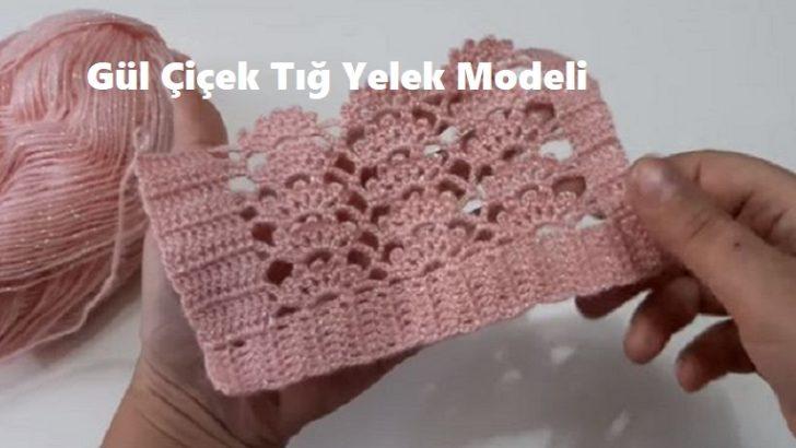 Gül Çiçek Tığ Yelek Modeli