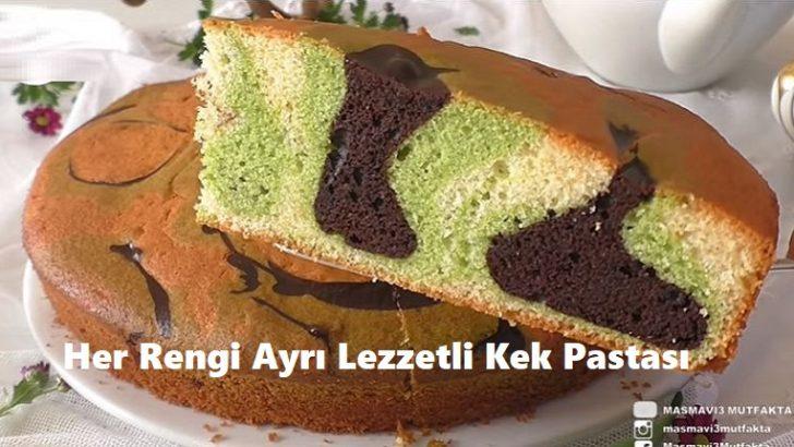 Her Rengi Ayrı Lezzetli Kek Pastası