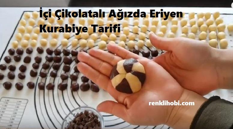 İçi Çikolatalı Ağızda Eriyen Kurabiye Tarifi 1