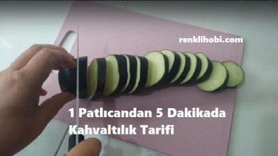 1 Patlıcandan 5 Dakikada Kahvaltılık Tarifi