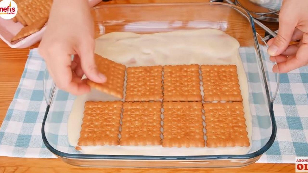 Dondurma Tadında Bisküvili Tatlı Tarifleri 1