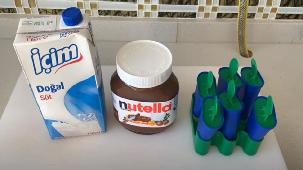 Nutellalı Gerçek Dondurma Tarifi 1
