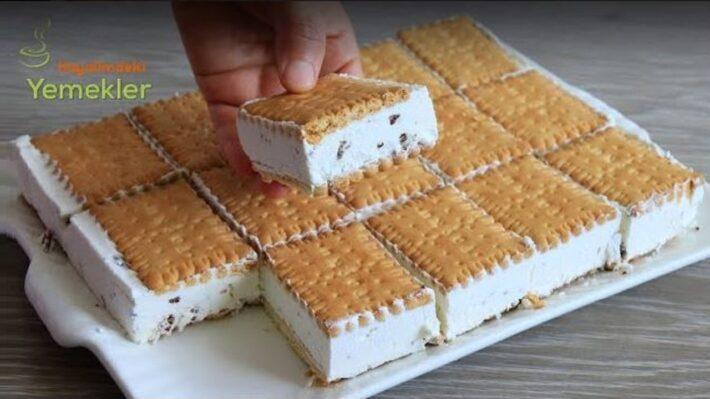 Bisküvili Dondurmalı Yaz Pastası