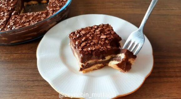 Asla Pişmeyen Bebe Bisküvisi Pastası 2