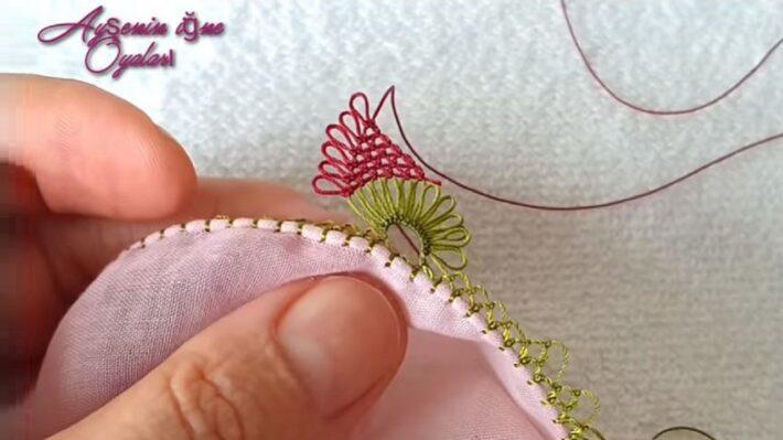 Papyon Çiçeği İğne Oyası Modelleri 1