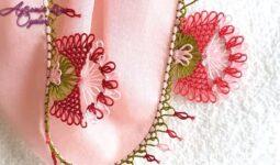 Papyon Çiçeği İğne Oyası Modelleri 2