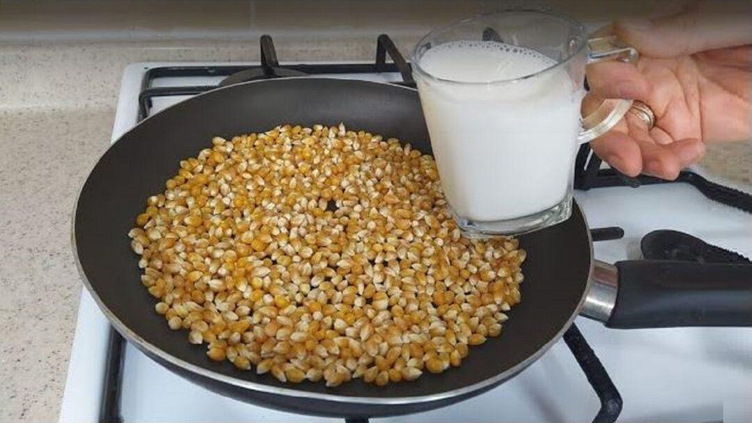 Süt İle Yapılan Patlamış Mısıra Bayılacaksınız