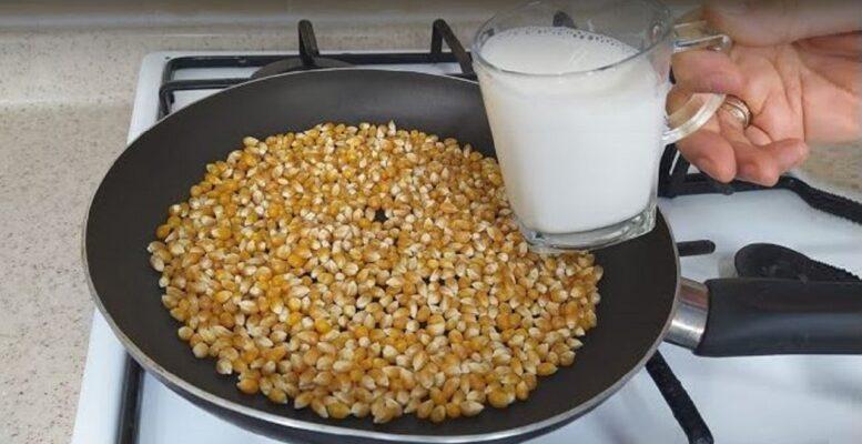 Süt İle Yapılan Patlamış Mısıra Bayılacaksınız 1