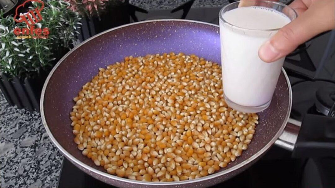 Sütle Yapılan Patlamış Mısıra Gören Şaşıracak