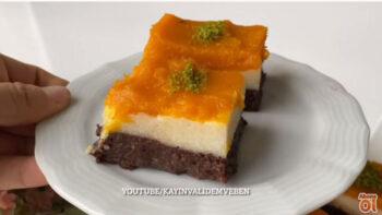 10 Dakikada Yapılan Renkli İrmik Pastası
