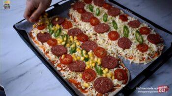 Kolay Tekniği Sayesinde Harika Çaya Pizza Tarifi