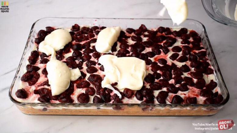 Dünyanın En Kolay Bor Camda Yaş Pasta Tarifi 4