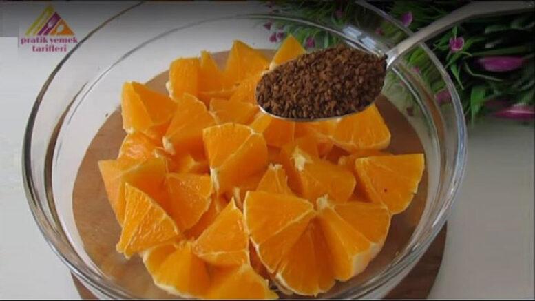 Portakal İle Kahveden İnanılmaz Kolay Şok Lezzetli Tarif 1