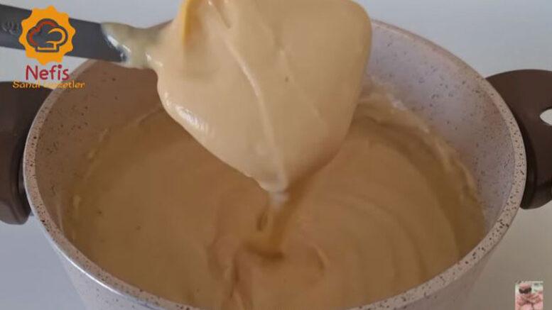 Süte Çay Katılarak Yapılan Pratik Tatlı Tarifi 3