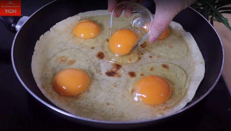 Yumurtayı Kaplayarak Hazırlanan Kahvaltılık Tarifi 2