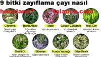 9 Bitki Zayıflama Çayı