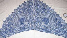 iki laleli şal yapılışı (Hannelore shawl )