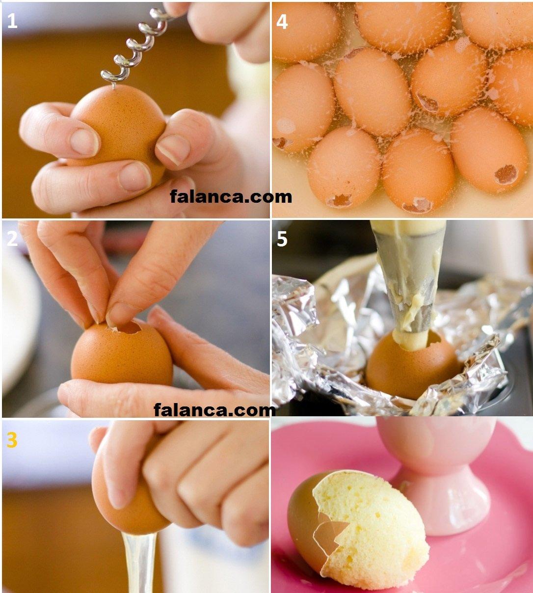 Yumurta Kabuğunda Kek Yapılışı 2