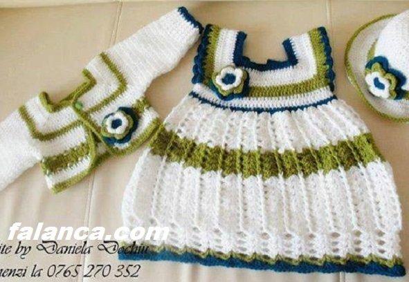 Anlatımlı Örgü Bebek Elbise Modelleri - 6