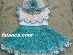Anlatimli Bebek Orguleri Elbise 6