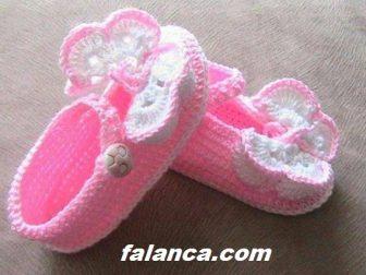Anlatimli Kiz Bebek Patik Kelebekli