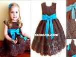 Anlatimli Orgu Bebek Elbise 44