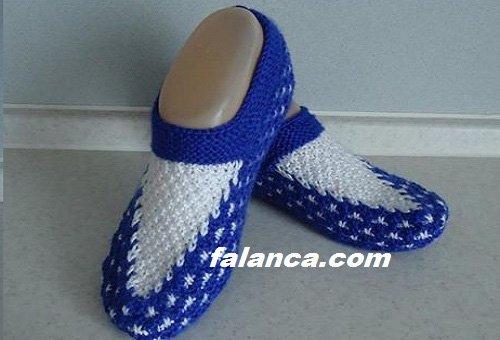 Tabanlı Mavi Beyaz Patik Modelleri 4