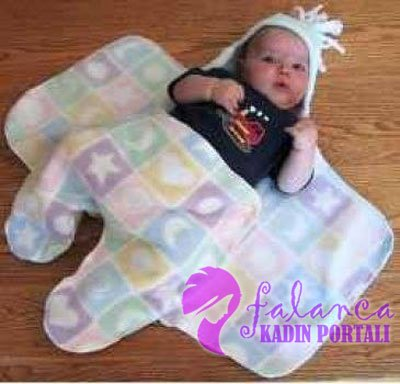 Ayaklı Bebek Battaniyesi Yapılışı