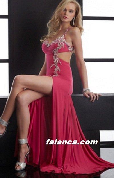 Bacak Dekolteli Abiye Elbise Modelleri 2