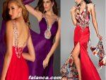 Bacak Dekolteli Abiye Elbise Modelleri 4