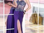Bacak Dekolteli Elbise Abiye Modelleri Yeni