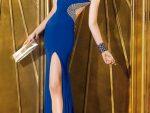 Bacak Dekolteli Elbise Abiye Modelleri Yeni 3