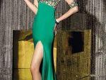 Bacak Dekolteli Elbise Abiye Modelleri Yeni 4
