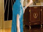 Bacak Dekolteli Elbise Abiye Modelleri Yeni 8