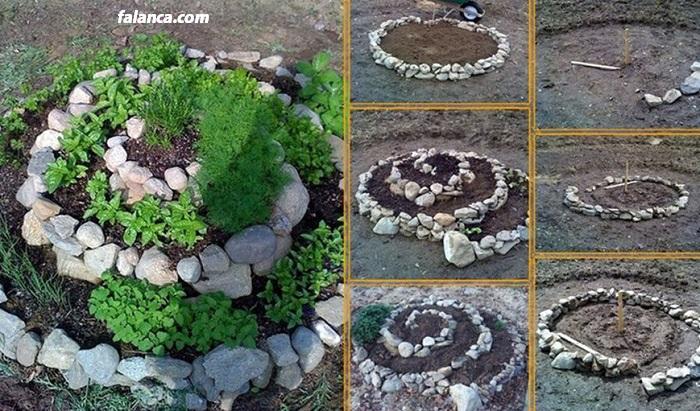 Bahçeye taş yol yapımı 4