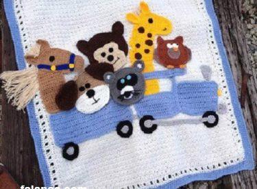 Tığ İşi Bebek Battaniye Modelleri