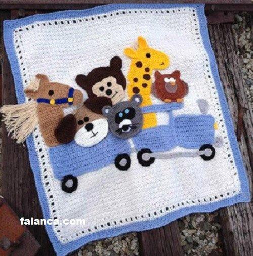 Tığ İşi Bebek Battaniye Modelleri - 16