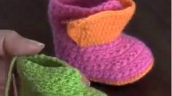Anlatımlı Bebek Örgüleri Bot Patik- Video