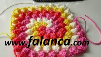 Çarkıfelek Dört Renkli Battaniye