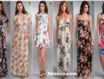 Cicek Desenli Elbise Modelleri