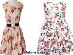 Cicek Desenli Elbise Modelleri 2